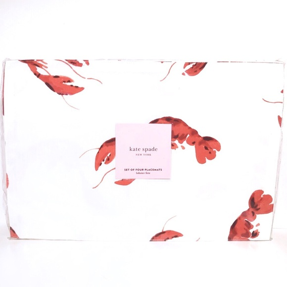 kate spade Other - Kate Spade Lobster Print Placemats Set Of 4